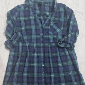 H&M Women's Flannel Dress Shirt